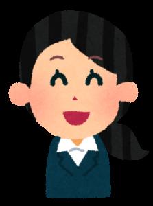 若い女性会社員笑顔