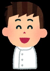 男性看護師笑顔