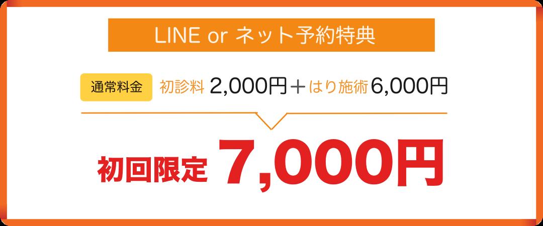 はり初回料金1,000円割引